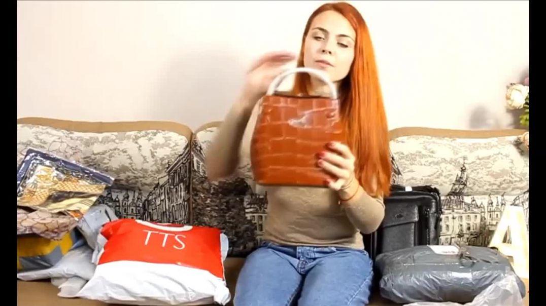 Видео обзор Женской коричневой кожаной сумки