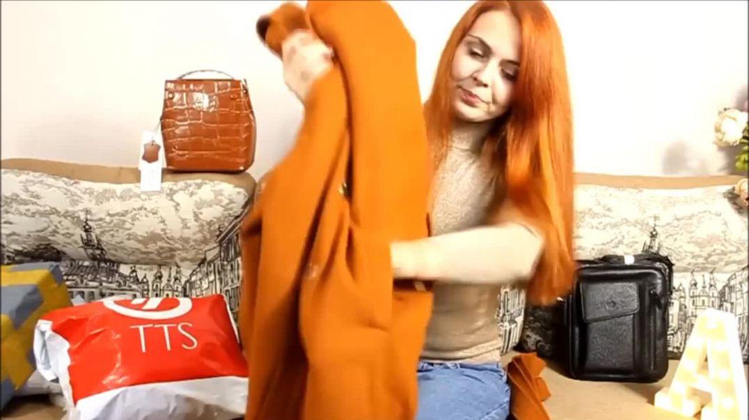 Видео обзор Коричневое женское пальто