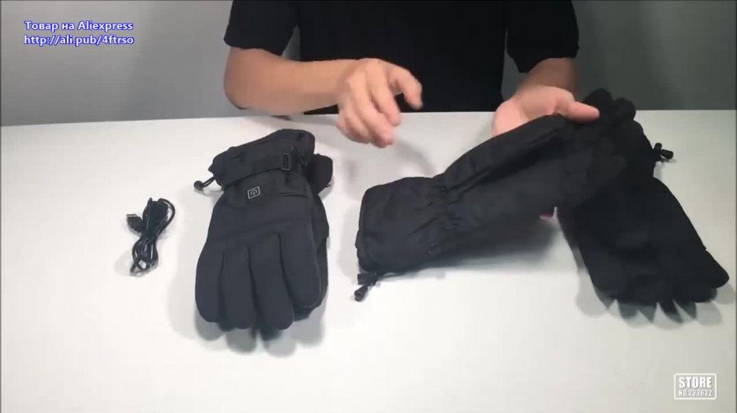 Водонепроницаемые мужские перчатки с подогревом. Видео обзор.mp4